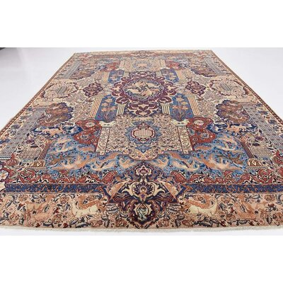 One-of-a-Kind Winterstown Persian Hand Woven Wool Cream Area Rug