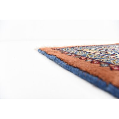 One-of-a-Kind Winterstown Persian Hand Woven Wool Rectangle Blue Area Rug