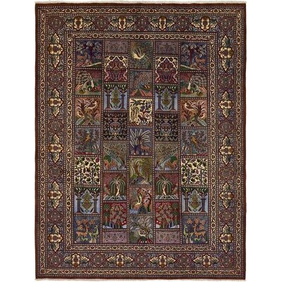 One-of-a-Kind Winterstown Persian Hand Woven Wool Blue Oriental Area Rug