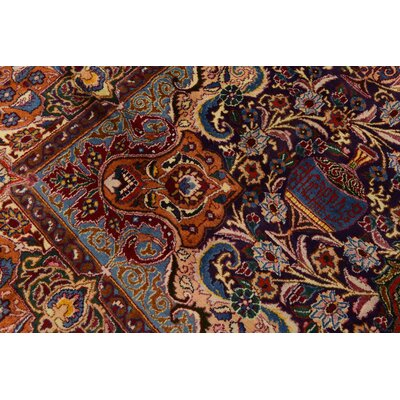 One-of-a-Kind Winterstown Traditional Fade Resistant Persian Hand Woven Wool Navy Blue Oriental Area Rug