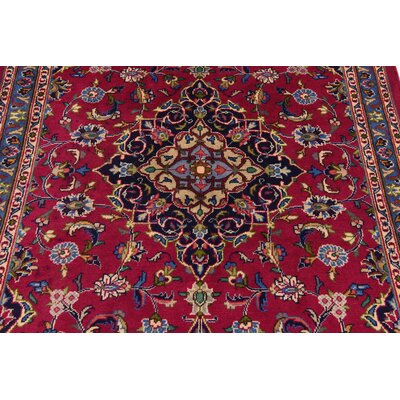 One-of-a-Kind Winterstown Traditional Persian Hand Woven Wool Rectangle Red Area Rug with Fringe