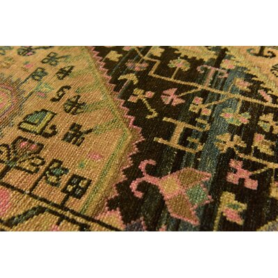 One-of-a-Kind Sela Vintage Persian Hand Woven Wool Light Brown Oriental Area Rug