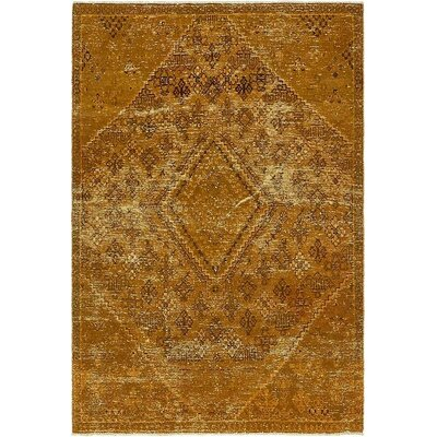 One-of-a-Kind Sela Vintage Persian Hand Woven Wool Tan Area Rug
