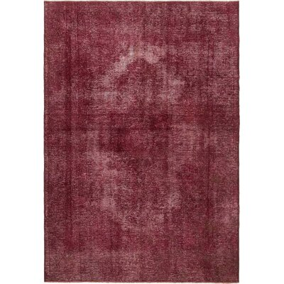 One-of-a-Kind Sela Traditional Vintage Persian Hand Woven Wool Burgundy Area Rug