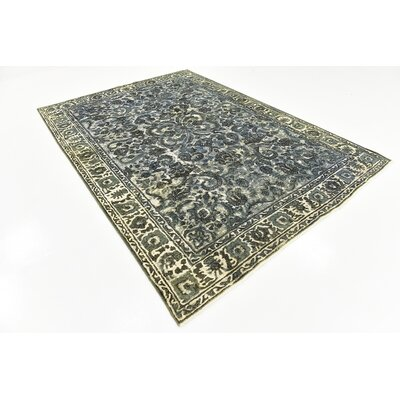 One-of-a-Kind Sela Vintage Persian Hand Woven Wool Dark Gray Area Rug