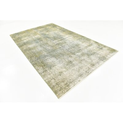 One-of-a-Kind Sela Traditional Vintage Persian Hand Woven Wool Gray Area Rug