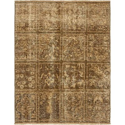 One-of-a-Kind Sela Traditional Vintage Persian Hand Woven Dyed Wool Brown Area Rug