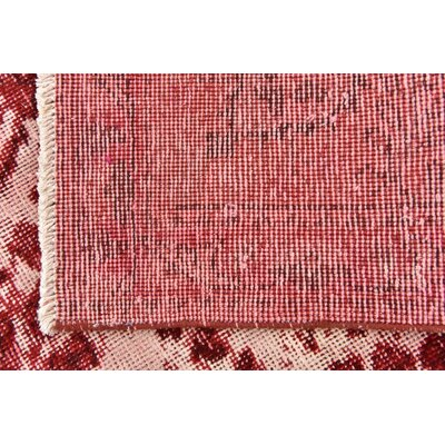 One-of-a-Kind Sela Vintage Persian Hand Woven Wool Red/Cream Floral Area Rug