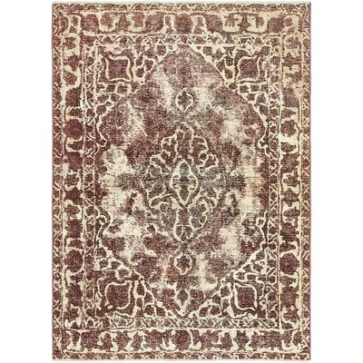 One-of-a-Kind Sela Traditional Vintage Persian Hand Woven Wool Rectangle Purple Oriental Area Rug