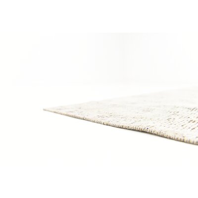 One-of-a-Kind Sela Traditional Vintage Persian Hand Woven Silk Beige Area Rug