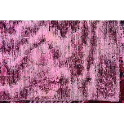 One-of-a-Kind Sela Vintage Persian Hand Woven Wool Red/Pink Floral Area Rug
