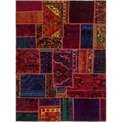 One-of-a-Kind Sela Traditional Vintage Persian Hand Woven Wool Blue/Red Oriental Area Rug
