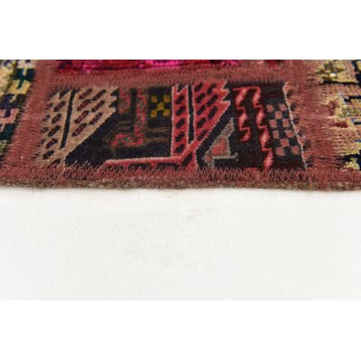 One-of-a-Kind Sela Vintage Persian Hand Woven Wool Red/Pink Area Rug