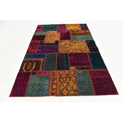 One-of-a-Kind Sela Vintage Persian Hand Woven Wool Red/Green Area Rug with Fringe