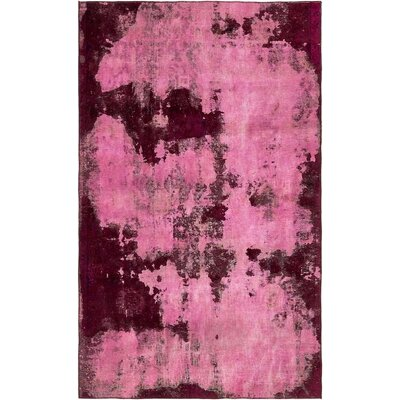 One-of-a-Kind Sela Traditional Vintage Persian Hand Woven Wool Rectangle Pink Area Rug