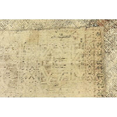 One-of-a-Kind Sela Vintage Persian Square Hand Woven Wool Distressed Beige Area Rug