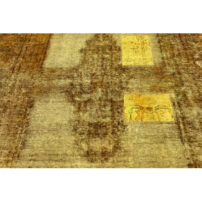 One-of-a-Kind Sela Vintage Persian Hand Woven Wool Light Brown Area Rug