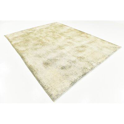 One-of-a-Kind Sela Traditional Vintage Persian Hand Woven 100% Dyed Wool Distressed Ivory Area Rug