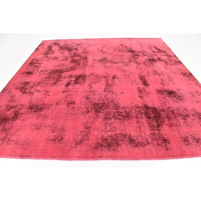 One-of-a-Kind Sela Vintage Persian Hand Woven 100% Dyed Wool Distressed Red Oriental Area Rug