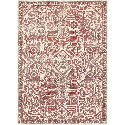One-of-a-Kind Sela Traditional Vintage Persian Hand Woven Wool Ivory Area Rug