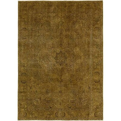 One-of-a-Kind Sela Vintage Persian Hand Woven 100%  Wool Brown Area Rug
