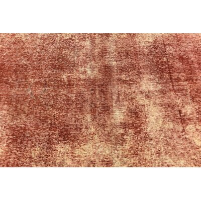 One-of-a-Kind Sela Vintage Persian Hand Woven Wool Red/Cream Area Rug