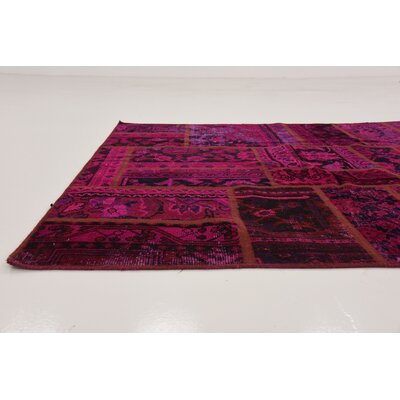 One-of-a-Kind Muhammad Vintage Persian Hand Woven Dyed Wool Red Area Rug