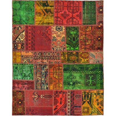 One-of-a-Kind Sela Vintage Persian Hand Woven Wool Rectangle Red Patchwork Area Rug