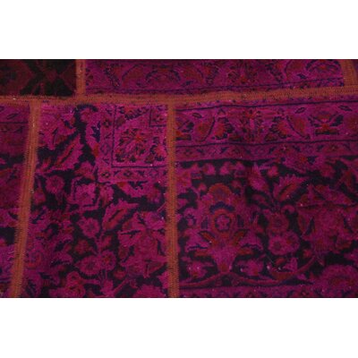 One-of-a-Kind Muhammad Vintage Persian Hand Woven Wool Rectangle Red Patchwork Area Rug