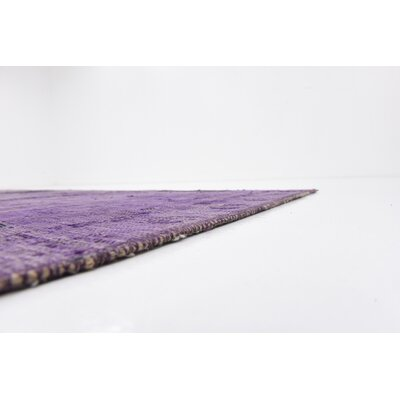 One-of-a-Kind Sela Traditional Vintage Persian Hand Woven 100% Wool Violet Oriental Area Rug