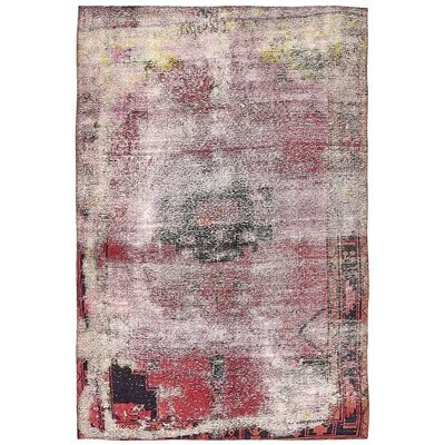 One-of-a-Kind Sela Vintage Persian Hand Woven Dyed Wool Red/Black Area Rug