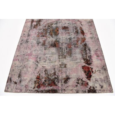 One-of-a-Kind Sela Vintage Persian Hand Woven Wool Rectangle Distressed Rust Red Area Rug