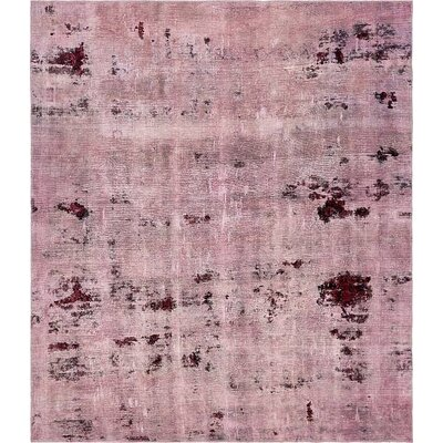 One-of-a-Kind Sela Traditional Vintage Persian Hand Woven Wool Rectangle Distressed Violet Area Rug