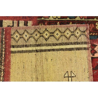 One-of-a-Kind Sela Vintage Persian Hand Woven Wool Red/Orange Tribal Area Rug