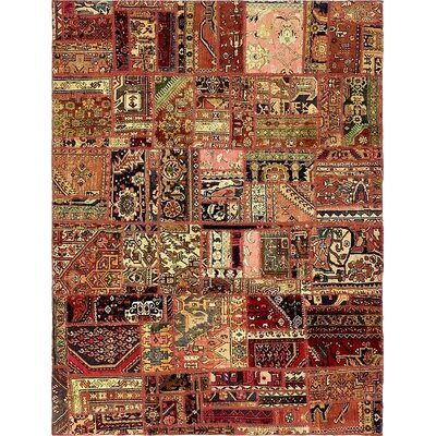 One-of-a-Kind Sela Vintage Persian Hand Woven Wool Rectangle Red Tribal Geometric Area Rug