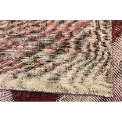 One-of-a-Kind Muhammad Vintage Persian Hand Woven Wool Ivory Oriental Area Rug