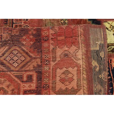 One-of-a-Kind Sela Vintage Persian Hand Woven 100% Dyed Wool Red/Black Area Rug
