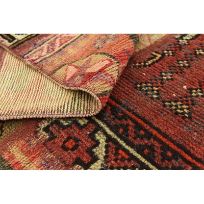 One-of-a-Kind Sela Vintage Persian Hand Woven 100% Wool Red/Sage Area Rug