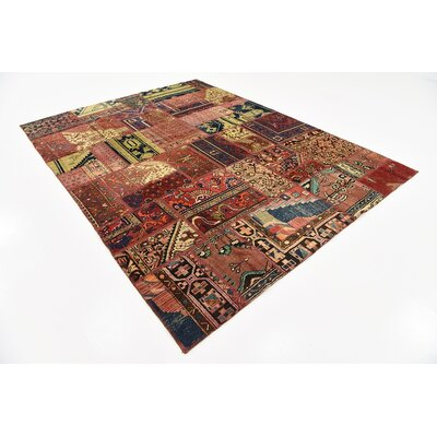 One-of-a-Kind Sela Vintage Persian Hand Woven Wool Rectangle Red/Black Oriental Area Rug