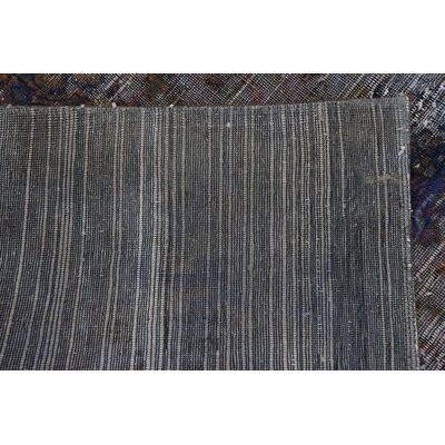 One-of-a-Kind Sela Vintage Persian Hand Woven Silk Gray Area Rug