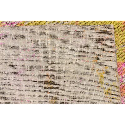 One-of-a-Kind Muhammad Traditional Vintage Persian Hand Woven Wool Pink Oriental Area Rug