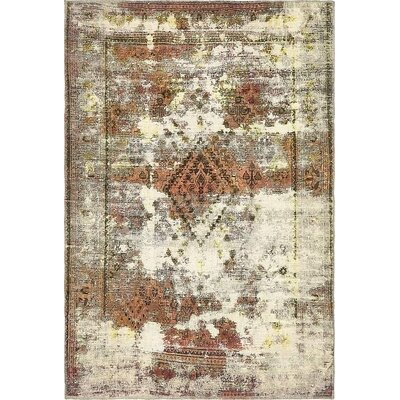 One-of-a-Kind Sela Traditional Vintage Persian Hand Woven Wool Beige Area Rug
