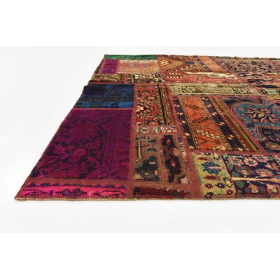 One-of-a-Kind Sela Vintage Persian Hand Woven Wool Rust Red Patchwork Area Rug