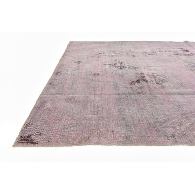 One-of-a-Kind Sela Traditional Vintage Persian Hand Woven Dyed Wool Violet Area Rug