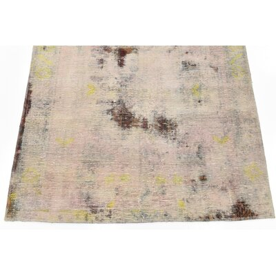 One-of-a-Kind Sela Traditional Vintage Persian Hand Woven Wool Rectangle Beige Oriental Area Rug