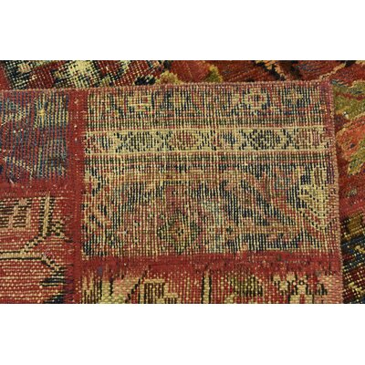 One-of-a-Kind Sela Traditional Vintage Persian Hand Woven Wool Red Area Rug