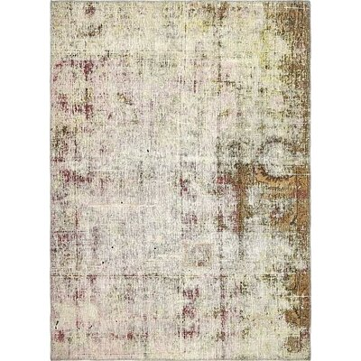 One-of-a-Kind Sela Traditional Vintage Persian Hand Woven Dyed Wool Beige Area Rug