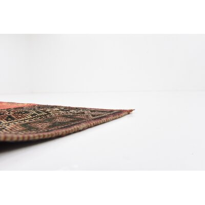 One-of-a-Kind Sela Traditional Vintage Persian Hand Woven Wool Red Tribal Patchwork Area Rug
