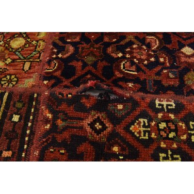 One-of-a-Kind Sela Traditional Vintage Persian Hand Woven 100% Wool Red Tribal Patchwork Area Rug