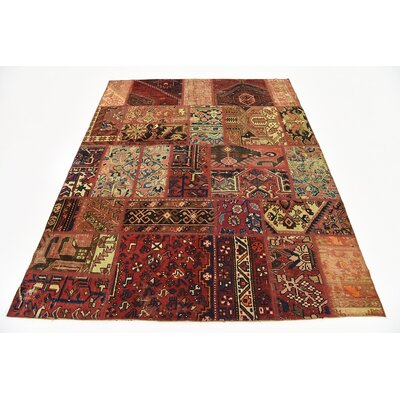 One-of-a-Kind Sela Traditional Vintage Persian Hand Knotted Wool Red Area Rug